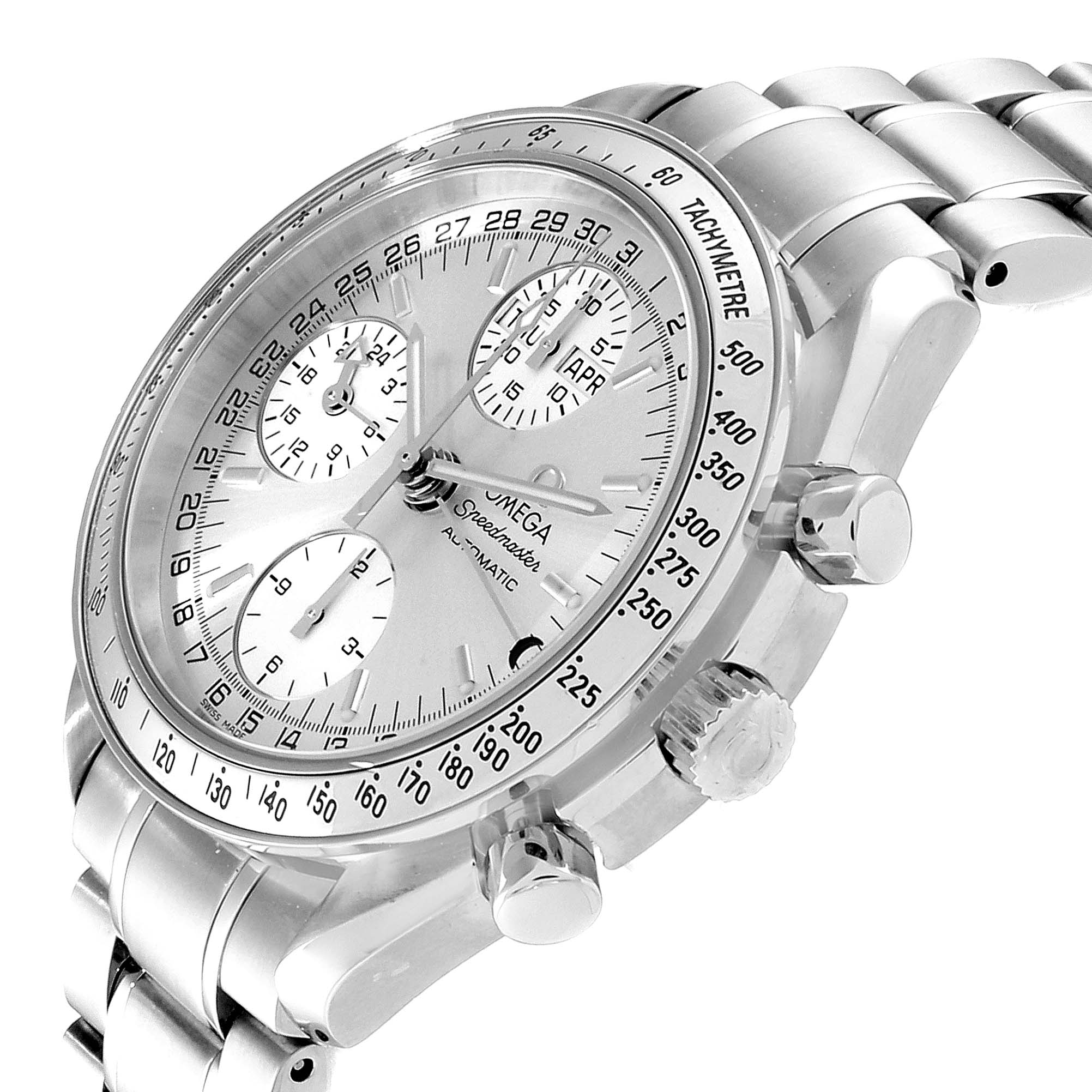 Omega Speedmaster Day Date Chronograph Silver Dial Mens Watch 3523.30.00 SwissWatchExpo