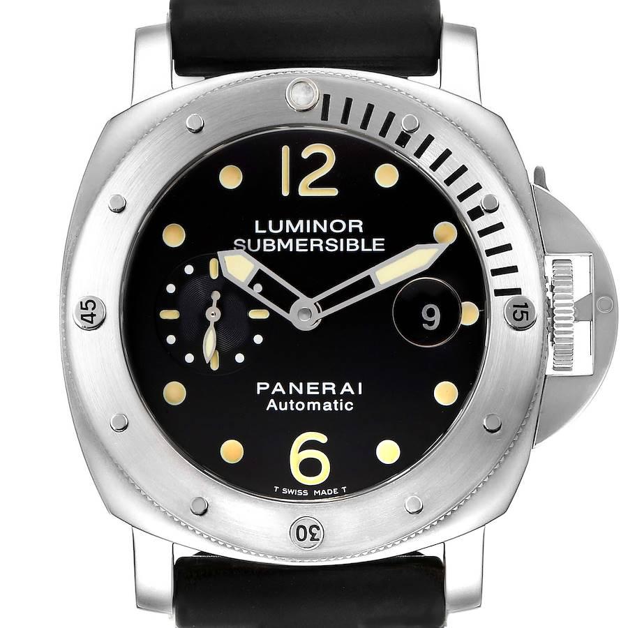 Panerai Luminor Submersible 44mm Steel Mens Watch PAM00024 Box Papers SwissWatchExpo