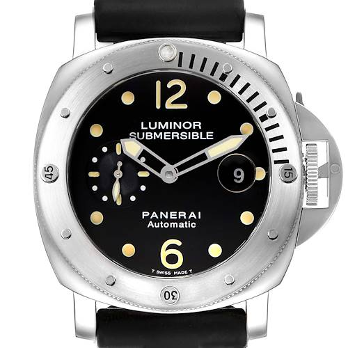 Panerai Luminor Submersible 44mm Steel Mens Watch PAM00024 Box Papers