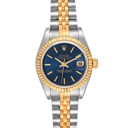 Photo of Rolex Datejust Steel Yellow Gold Blue Dial Ladies Watch 79173 Unworn