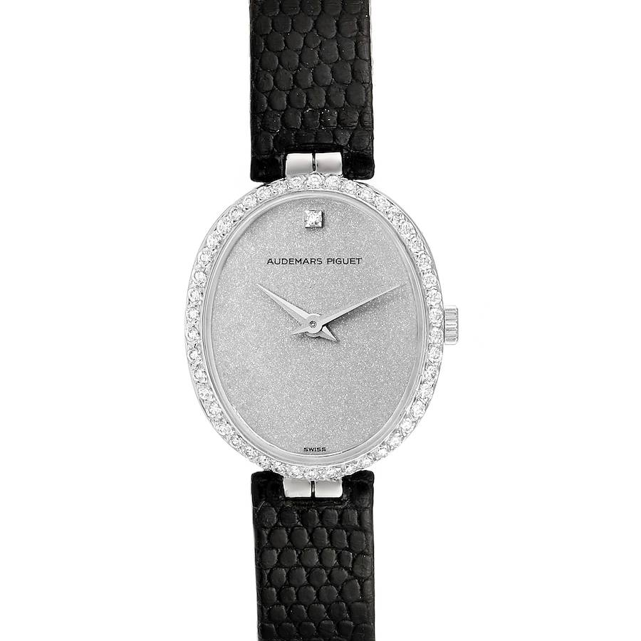 Audemars Piguet Vintage 18k White Gold Diamond Ladies Watch 7073BC SwissWatchExpo