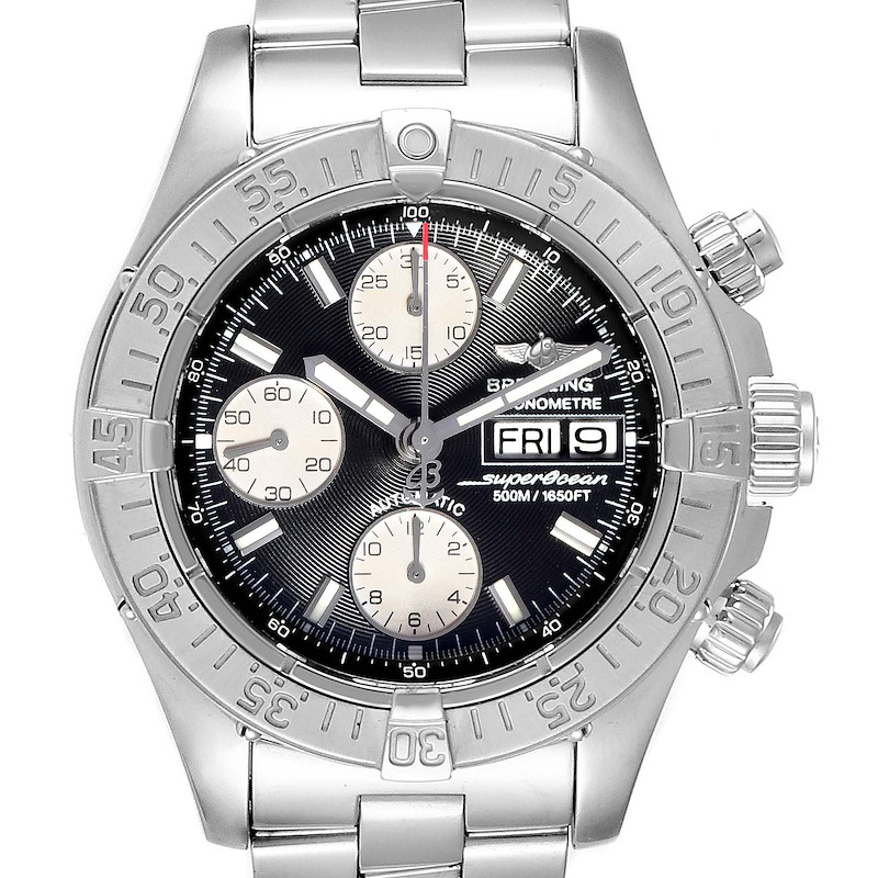 Breitling Aeromarine Superocean Chronograph Watch A13340 Box Papers SwissWatchExpo