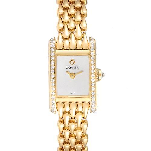 Photo of Cartier Tank Louis Mini 18K Yellow Gold Diamond Ladies Watch 1360