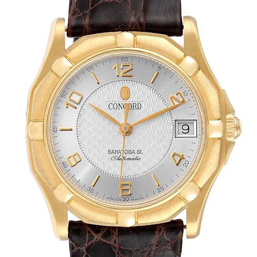 Photo of Concord Saratoga 18k Yellow Gold Silver Dial Automatic Mens Watch 50.A9.230