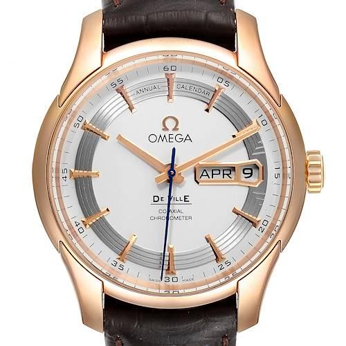 Photo of Omega DeVille Hour Vision 18k Rose Gold Watch 431.63.41.22.02.001 Unworn