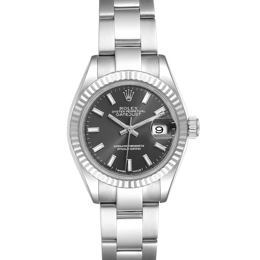 Rolex Datejust 28 Steel White Gold Slate Dial Ladies Watch 279174 SwissWatchExpo
