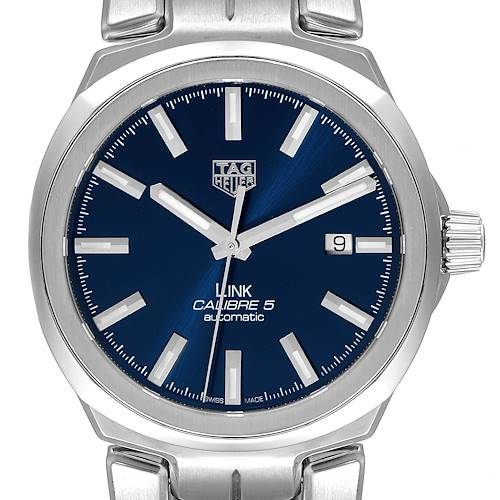 Photo of TAG Heuer Link Steel Blue Dial Automatic Mens Watch WBC2112 Box Card