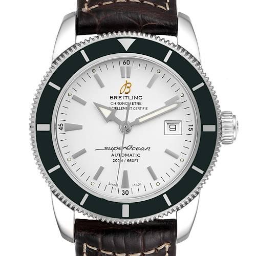 Photo of Breitling Superocean Heritage 42 Green Bezel Steel Watch A17321 Box Papers