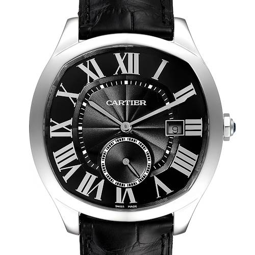 Photo of Cartier Drive de Cartier Black Dial Steel Mens Watch WSNM0009 Box Papers