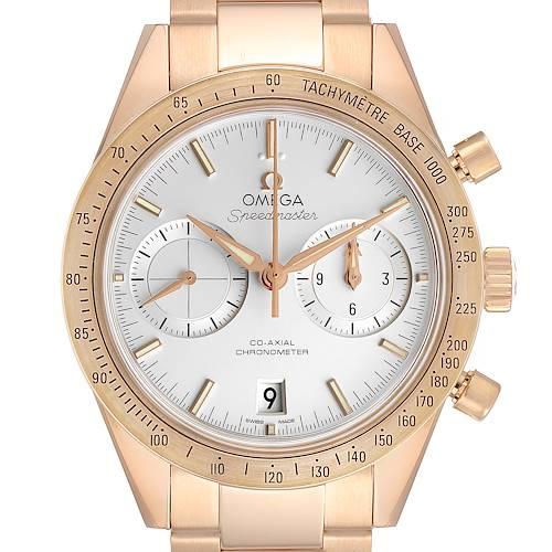Photo of Omega Speedmaster 57 Rose Gold Silver Dial Mens Watch 331.50.42.51.02.002