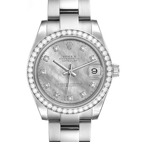 Photo of Rolex Datejust Midsize Steel White Gold Goldust Diamond Watch 178384 Unworn