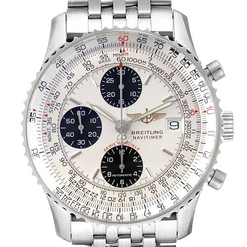 Photo of Breitling Navitimer Fighter Panda Dial Steel Mens Watch A13330 Box Papers