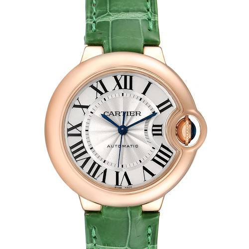 Photo of Cartier Ballon Bleu Rose Gold Silver Dial Ladies Watch W6920097 Box Papers