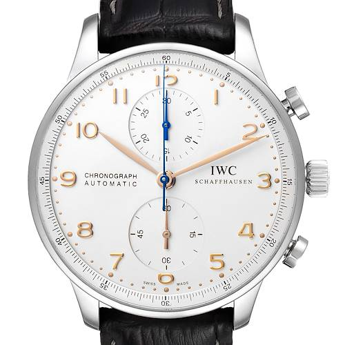 Photo of IWC Portuguese Chrono Automatic Silver Dial Steel Mens Watch IW371604