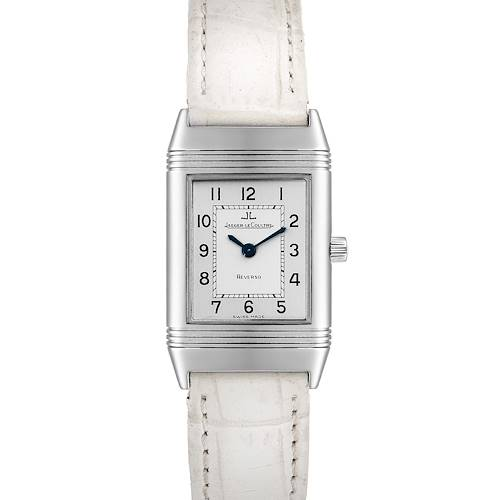 Photo of Jaeger LeCoultre Reverso Classique Silver Dial Watch 260.8.08 Box Papers