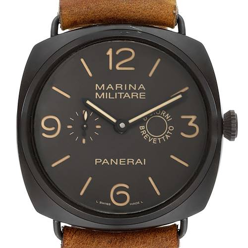 Photo of Panerai Radiomir Composite Marina Brown Dial Mens Watch PAM00339 Box Papers
