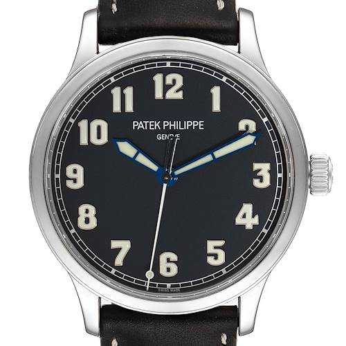 Photo of Patek Philippe Calatrava Pilot Limited Edition Steel Watch 5522A Box Papers