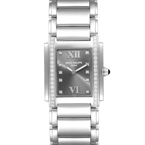 Photo of Patek Philippe Twenty-4 Grey Diamond Dial Steel Ladies Watch 4910