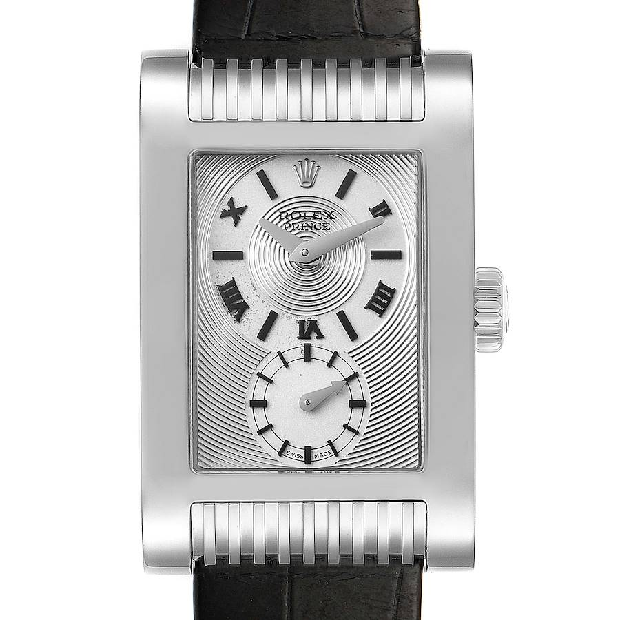 Rolex Cellini Prince 18k White Gold Silver Dial Mens Watch 5441 SwissWatchExpo