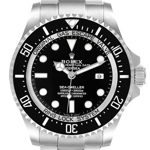 Photo of Rolex Seadweller Deepsea 44 Black Dial Steel Mens Watch 126660 Box Card