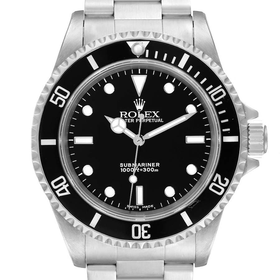 Rolex Submariner 40mm Non-Date 2 Liner Steel Steel Watch 14060 Box Papers ~ CHANGE INSERT SwissWatchExpo