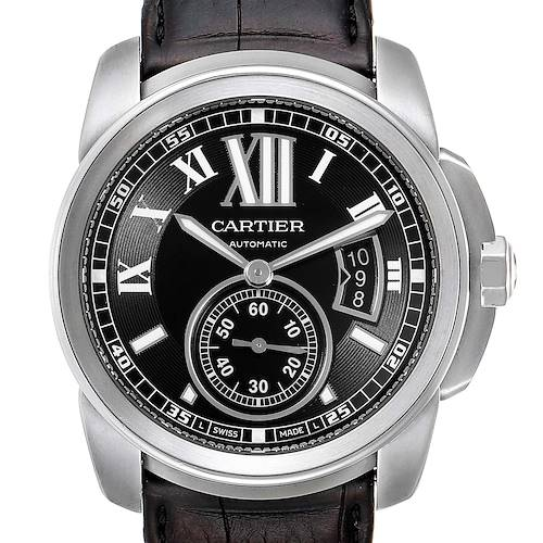 Photo of Cartier Calibre Black Dial Automatic Steel Mens Watch W7100041