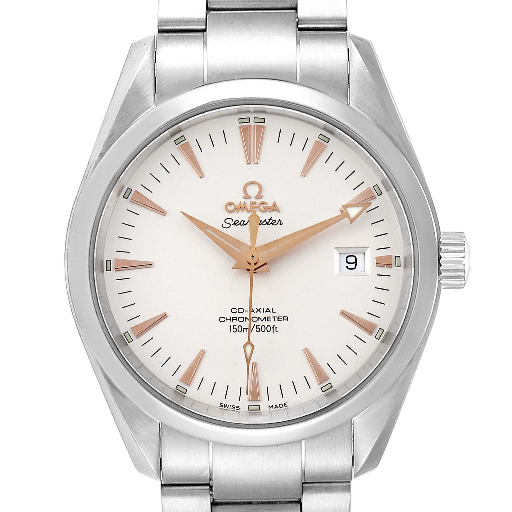 Omega Seamaster Aqua Terra Mens Steel Watch 2503.34.00 Box Papers