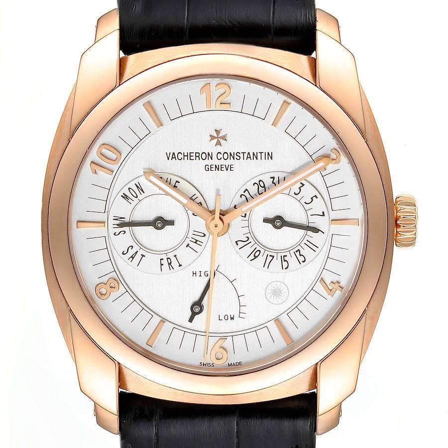 Vacheron Constantin Quai De L'ile Day Date Power Reserve Rose Gold Mens Watch 85050 SwissWatchExpo