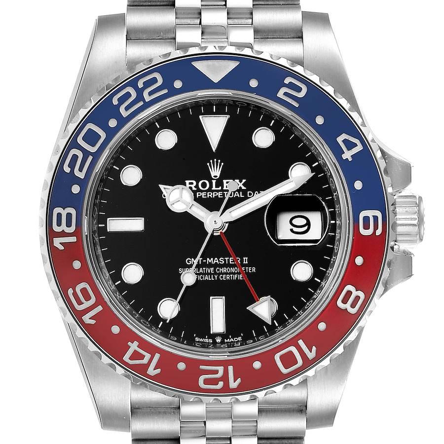 Rolex GMT Master II Pepsi Bezel Jubilee Steel Mens Watch 126710 SwissWatchExpo