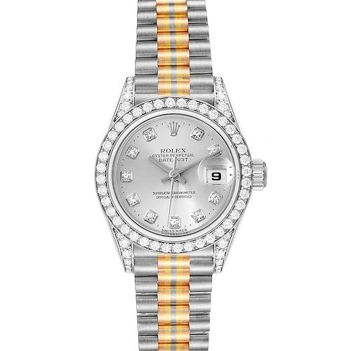 Photo of Rolex President Tridor White Yellow Rose Gold Diamond Ladies Watch 69159