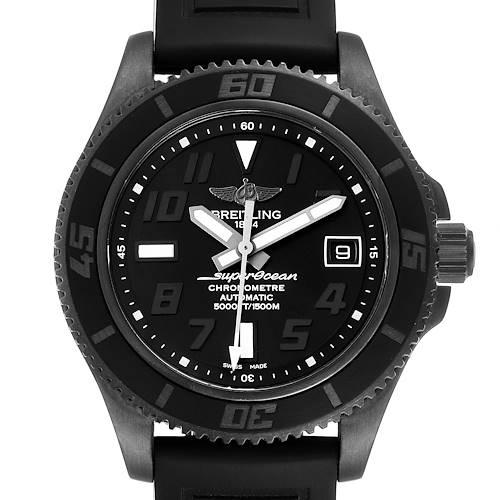 Breitling Superocean 42 Blacksteel Mens Watch M17364 Box Papers