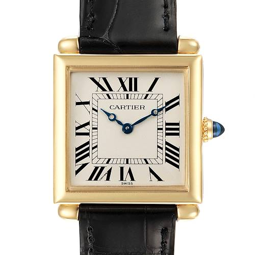 Photo of Cartier Tank Obus 18k Yellow Gold Silver Dial Ladies Watch 1630