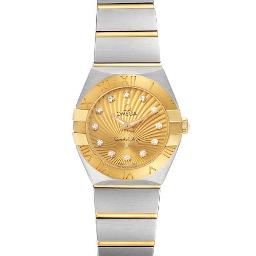 Photo of Omega Constellation Steel Yellow Gold Diamond Watch 123.20.24.60.58.001 Unworn