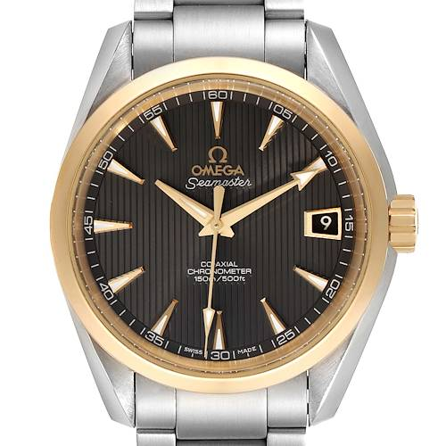 Photo of Omega Seamaster Aqua Terra Steel Yellow Gold Watch 231.20.39.21.06.004 Box Card