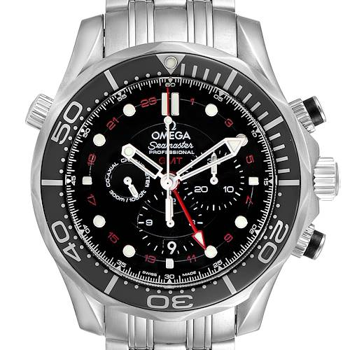 Photo of Omega Seamaster Diver 300M Co-Axial GMT Watch 212.30.44.52.01.001 Unworn