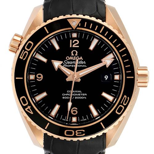 Photo of Omega Seamaster Planet Ocean 18k Rose Gold Watch 232.63.46.21.01.001 Unworn