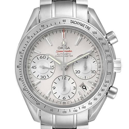 Photo of Omega Speedmaster Date Silver Dial Steel Mens Watch 323.10.40.40.02.001