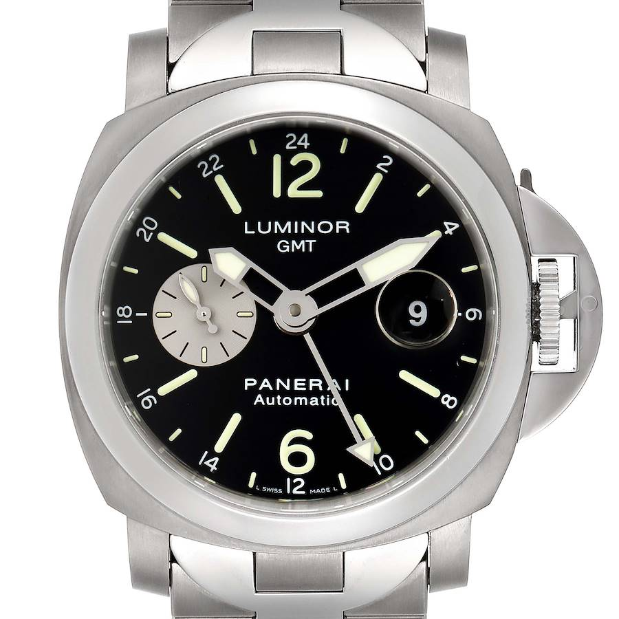 Panerai Luminor GMT Automatic Steel Mens Watch PAM00161 Box Papers SwissWatchExpo