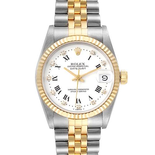 Photo of Rolex Datejust 31 Midsize Steel Yellow Gold White Dial Ladies Watch 68273
