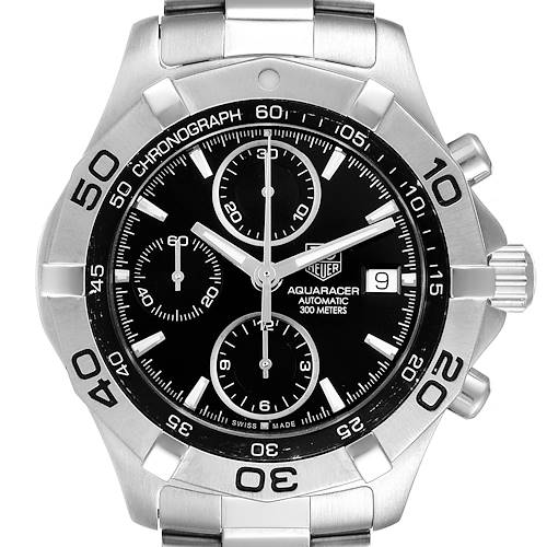 Photo of Tag Heuer Aquaracer Black Dial Chronograph Mens Watch CAF2110