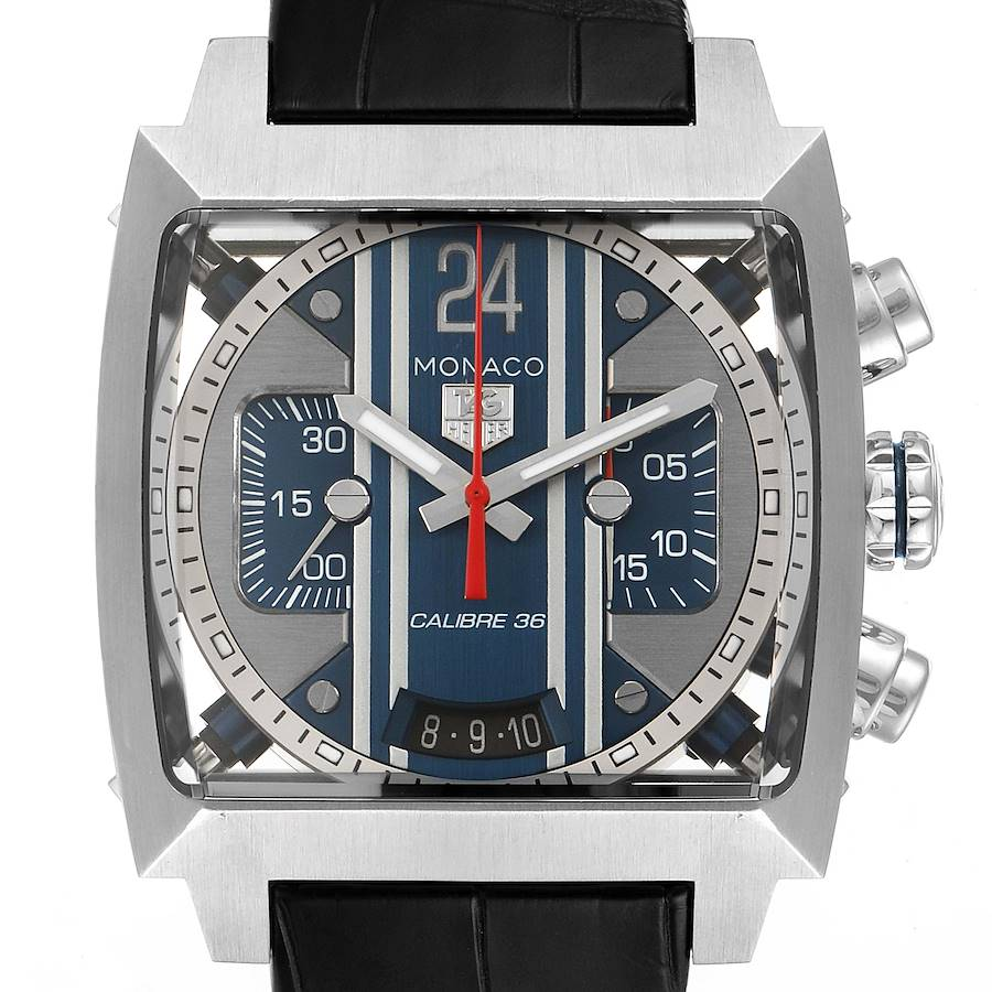 Tag Heuer Monaco 24 Caliber 36 Chronograph Steel Mens Watch CAL5111 SwissWatchExpo