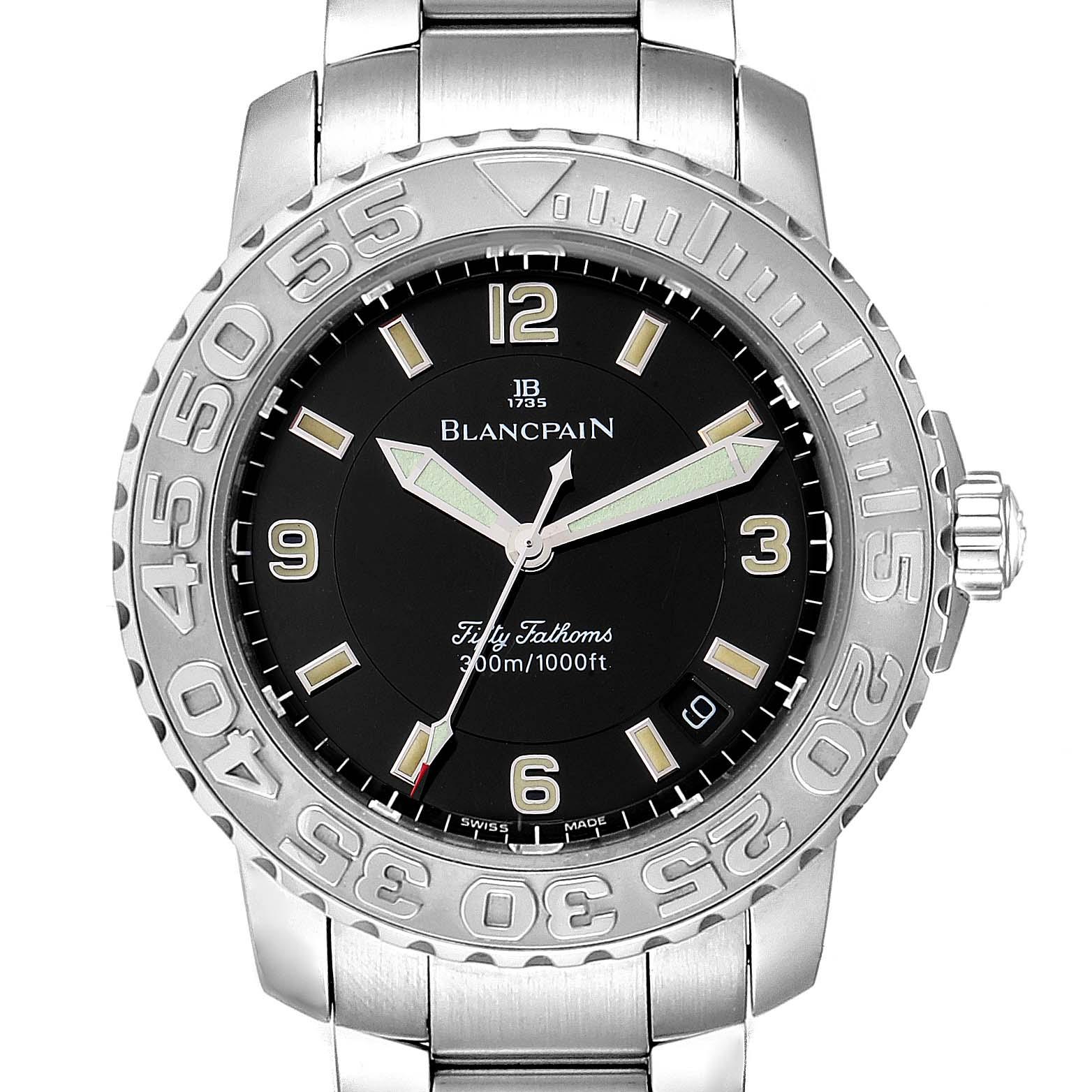 Blancpain Fifty Fathoms Specialties Divers Steel Mens Watch 2200 SwissWatchExpo