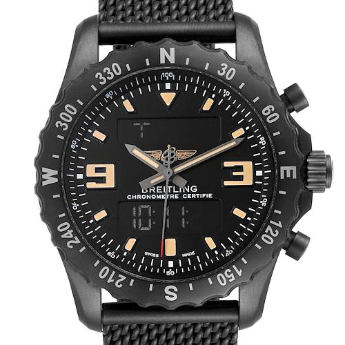 Photo of Breitling Chronospace Military GMT Alarm Blacksteel Mens Watch M78366 Unworn
