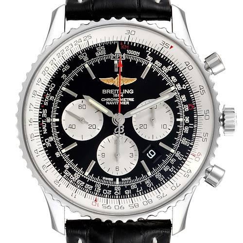 Photo of Breitling Navitimer 01 46mm Black Steel Dial Mens Watch AB0127 Unworn