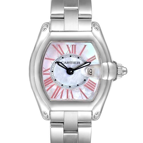 Photo of Cartier Roadster Mother of Pearl Dial Steel Ladies Watch W6206006