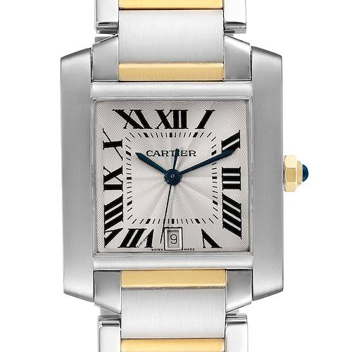 Photo of Cartier Tank Francaise Steel Yellow Gold Large Unisex Watch W51005Q4