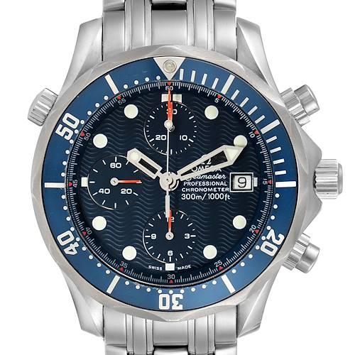 Photo of Omega Seamaster Bond Chrono Blue Wave Dial Mens Watch 2599.80.00
