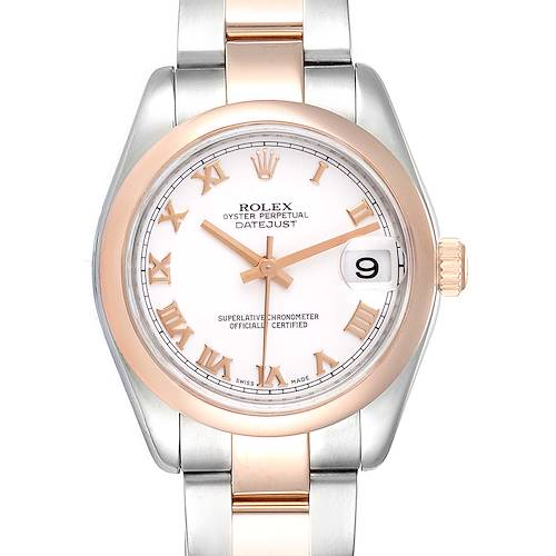 Photo of Rolex Datejust 31 Midsize Steel Rose Gold White Dial Ladies Watch 178241