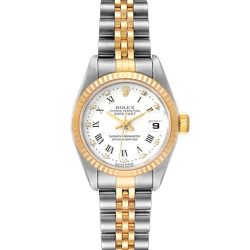 Photo of Rolex Datejust Steel Yellow Gold White Diamond Dial Ladies Watch 79173