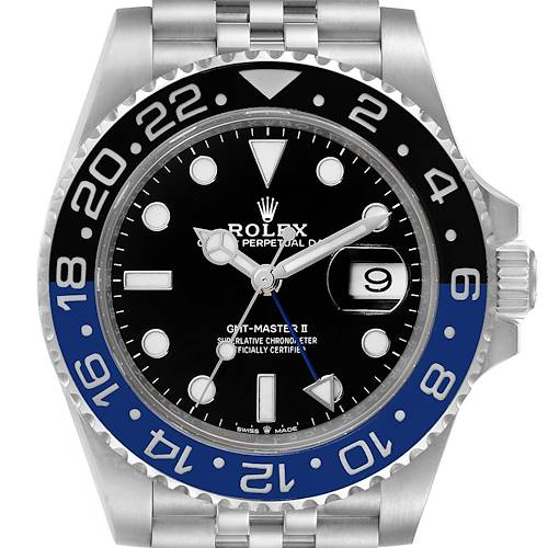 Rolex GMT Master II Black Blue Batman Jubilee Mens Watch 126710 Box Card